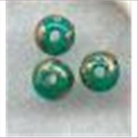 10 Acrylperlen grüngold 4mm
