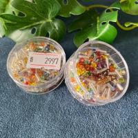 18gr.  Rocailles Stifte Mix Silbereinzug