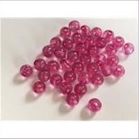 60 Acrylperlen fuchsia pink 4mm