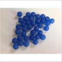60 Acrylperlen matt dunkelblau 4mm
