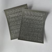 1 Bogen Sticker silber A-Z Buchstaben