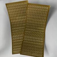 1 Bogen Sticker gold Zahlen