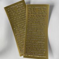 1 Bogen Sticker gold diverse Anlässe