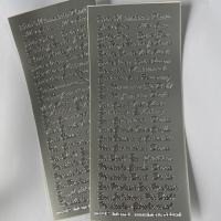1 Bogen  Sticker silber diverse Anlässe