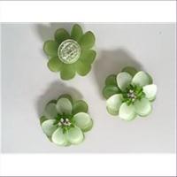 1 Blume Blüte grün 4cm