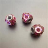 1 Beads Fädelperle Straß pink