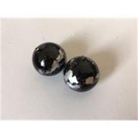 2 Perlen schwarz-silber (leicht) 19,7mm