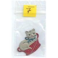 1 Anhänger Metallmotiv Katze
