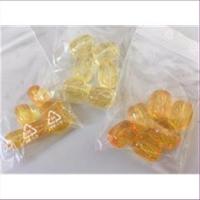 6 Acrylperlen gemischt Gelbtöne