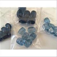 6 Acrylperlen gemischt Blautöne