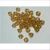 10 Acryl-Schliffperlen amber
