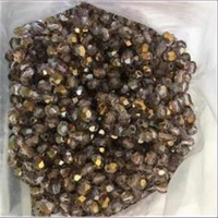 10 Glasschliffperlen goldbraun AB