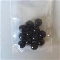 12  Glasperlen schwarz 8mm
