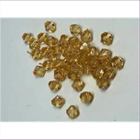 24 Acryl-Schliffperlen amber