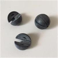 2 Doppelperlen (4tlg.) matt-schwarz 18mm