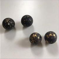 1 Acrylperle schwarz-gold 15mm