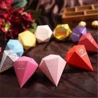 1 Geschenkbox Diamant farbig rot