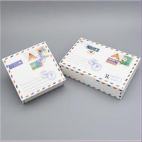 1 Geschenkbox Luftpost-Optik