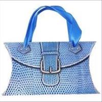 1 Geschenkverpackungen Tasche 24x15cm blau