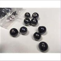 1 Perle hämatitfarben 10-12mm