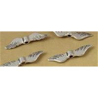 1 Flügelperle  Metall 23,4mm