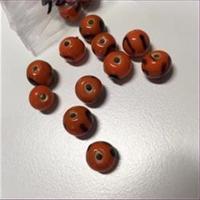 1 Perle orange 8-9mm