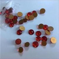 5 Straßsteine flach rot 7,2mm