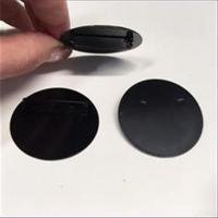 1 Broschierung Platte rund 29mm schwarz