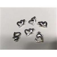 3 Herz Carabiner antiksilber altsilber