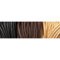 1 meter Baumwollband schwarz 1mm