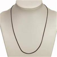 1 Halskette 43cm altmessing braun