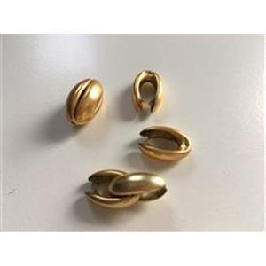 1 Acrylperle Bohne mattgold