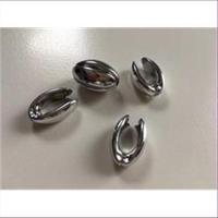 1 Acrylperle Bohne silber platin