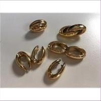 1 Acrylperle Bohne gold glänzend
