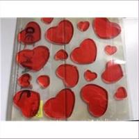 1 Packung Gelherzen Klebeherzen rot