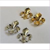 1 Pressung Königslilie Heraldik Lilie