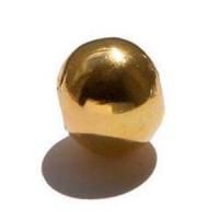 20 Hohlkugeln Metallkugeln 6mm gold