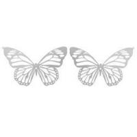 1 Schmetterling Anhänger Edelstahl