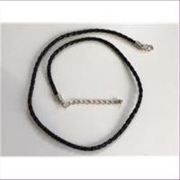1 Halskette geflochten 44cm + Verlängerung
