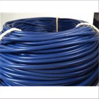 1m Silikon Band 4mm blau