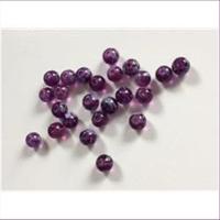 24 Glasperlen lila weiß 6,6mm