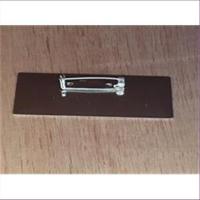 1 Broschenplatte eckig 64x21mm silberfarbig