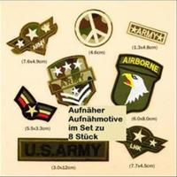 1 Set Aufnähmotiv Logo Wappen Militär