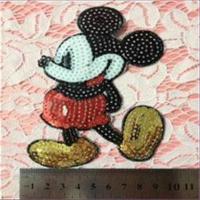 1 Aufnähmotiv  Mickey Mouse Pailletten