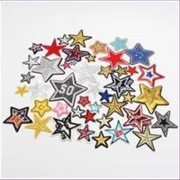 1 Aufnähmotiv  Sterne Mix