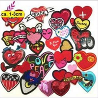 1 Aufnähmotiv  Herzen  Mix