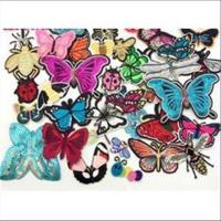 1 Aufnähmotiv  Schmetterlinge  Insekten Mix