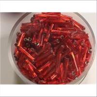 35gr. Stiftperlen Glas gedreht 10mm rot