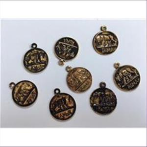 5 Anhänger ROMA antikgold
