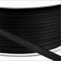 1m Satinband schwarz 2mm